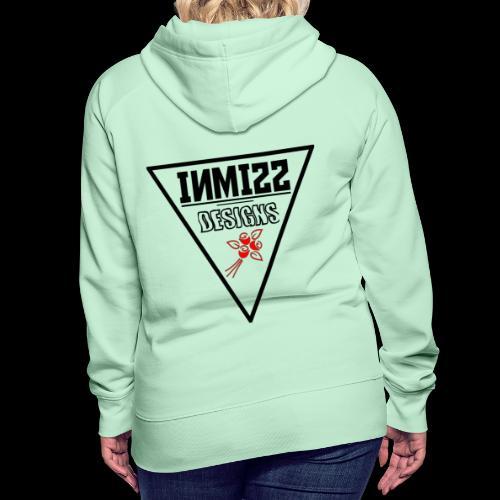Triangle Red Rose Design - Women's Premium Hoodie