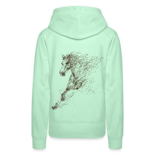 Vorschau: Pixel Horse brown - Frauen Premium Hoodie