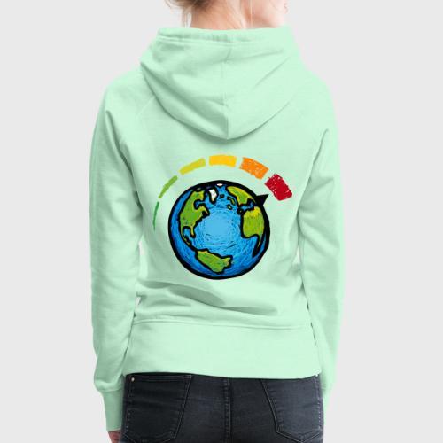 Urgence Climatique - Sweat-shirt à capuche Premium pour femmes