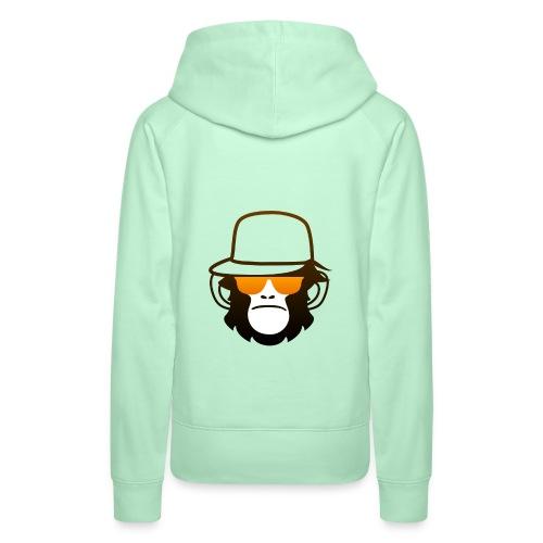 Aap Met Bril En Cap - Vrouwen Premium hoodie