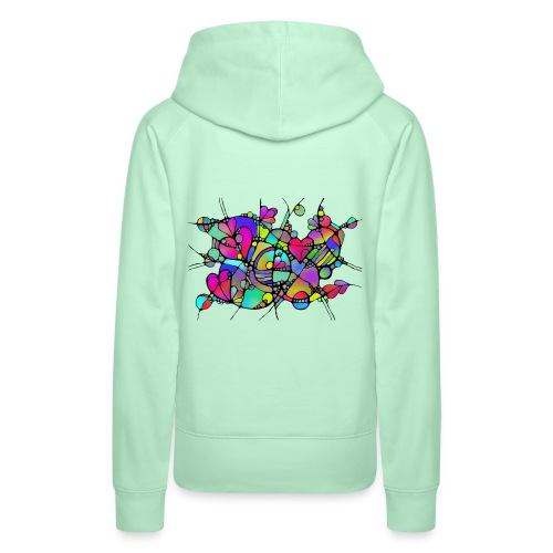 Abstrakte Kunst Neuro Art LOVE IS CRAZY 5 - Frauen Premium Hoodie