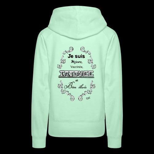 je suis - Sweat-shirt à capuche Premium pour femmes