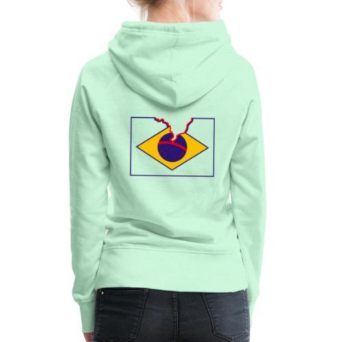 Livre Brasil - Sweat-shirt à capuche Premium pour femmes