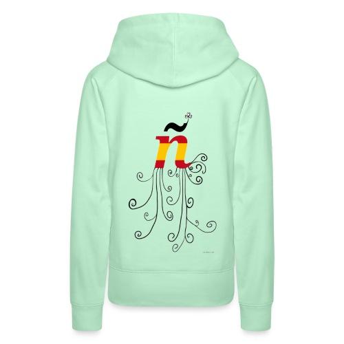 eÑe - Sudadera con capucha premium para mujer