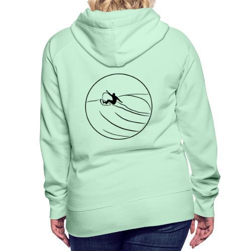 Surfer2 auf Welle Nr.1 - Frauen Premium Hoodie