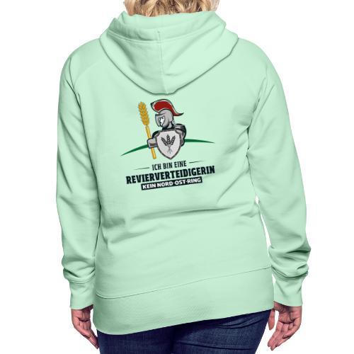 Revierverteidigerin rot - Frauen Premium Hoodie