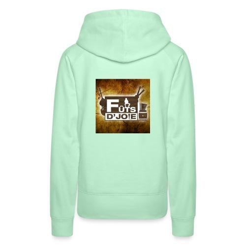 Logo Futs D Joie - Sweat-shirt à capuche Premium pour femmes