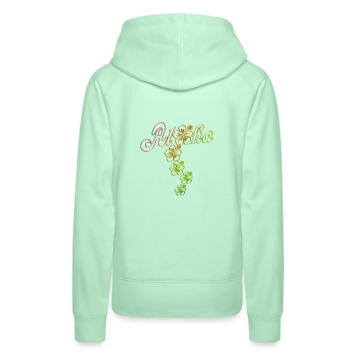 Aloha Hibiscus Blossoms - colored outlines - Frauen Premium Hoodie