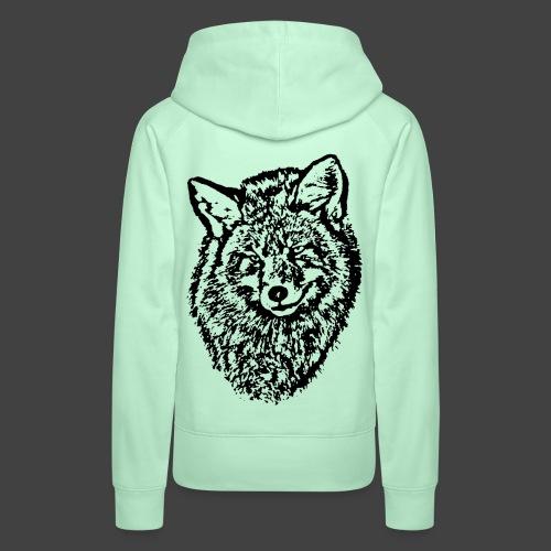 FOX1 - BLACK - Women's Premium Hoodie