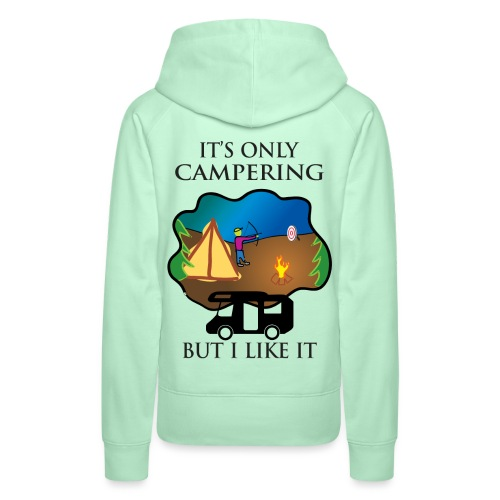 To tylko campering, ale to lubię - Bluza damska Premium z kapturem