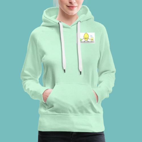 limoncitos kawaii - Sudadera con capucha premium para mujer