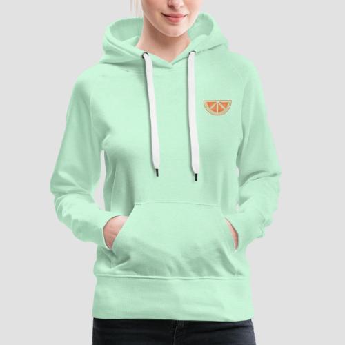 Mandarino design - Felpa con cappuccio premium da donna