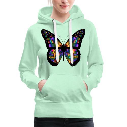 papillon design - Sweat-shirt à capuche Premium pour femmes