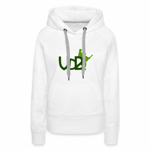 VdB green - Felpa con cappuccio premium da donna