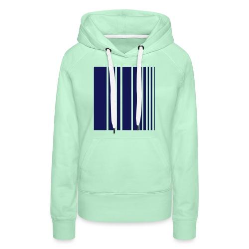 stripes blue - Women's Premium Hoodie