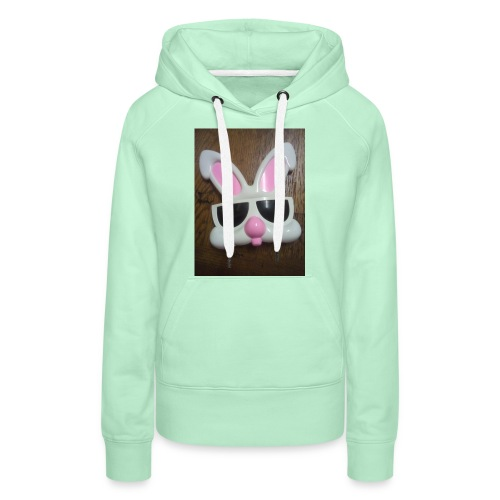 Konijnen bril - Vrouwen Premium hoodie