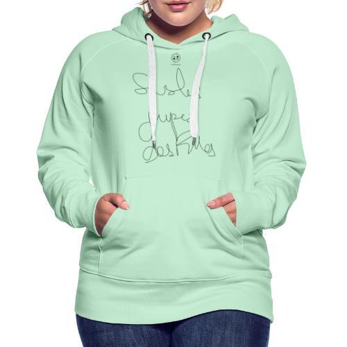 sous les jupes des filles - Sweat-shirt à capuche Premium pour femmes