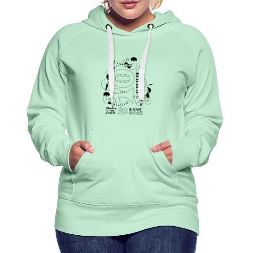 ESME Anniversary Design Schwartz - Frauen Premium Hoodie