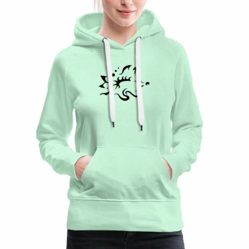 Hérisson, design tribal épuré - Sweat-shirt à capuche Premium pour femmes