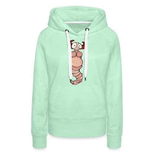 wormvrouw voor sticker huidskleur A png png - Vrouwen Premium hoodie