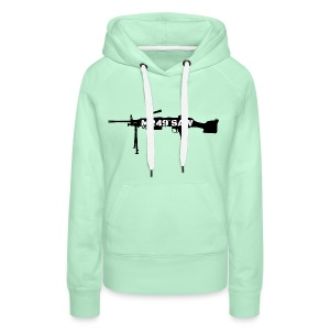 M249 SAW light machinegun design - Vrouwen Premium hoodie