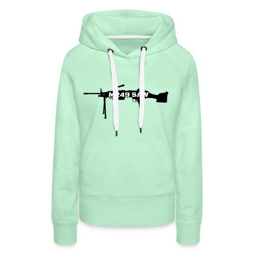 M249 SAW light machinegun design - Vrouwen Premium hoodie