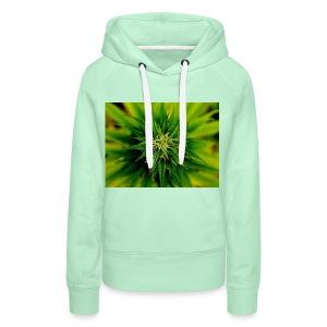 super weed - Bluza damska Premium z kapturem