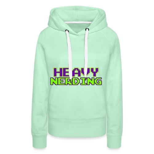 Logo heavy nerding - Felpa con cappuccio premium da donna