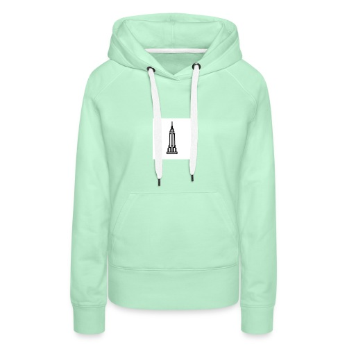 Empire State Building - Sweat-shirt à capuche Premium pour femmes