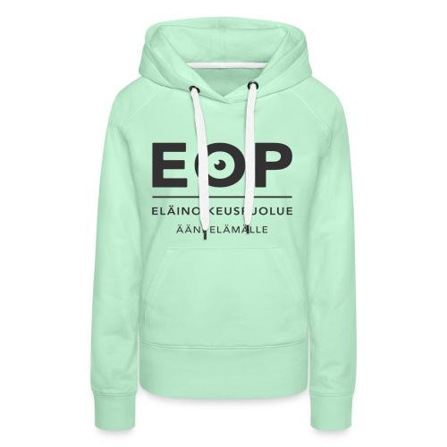 EOP Logo slogan musta - Naisten premium-huppari