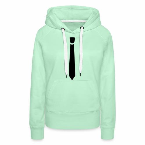 Cravate normale classe - Sweat-shirt à capuche Premium pour femmes