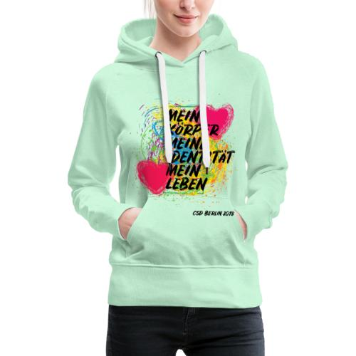 Motto CSD Berlin 2018 (deutsch) - Frauen Premium Hoodie