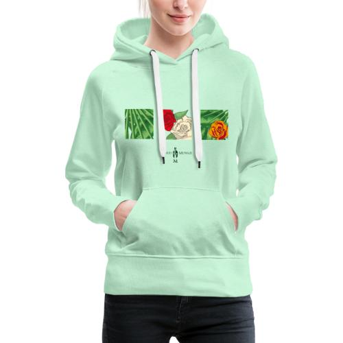 Urban Jungle | Flower Squares - Frauen Premium Hoodie