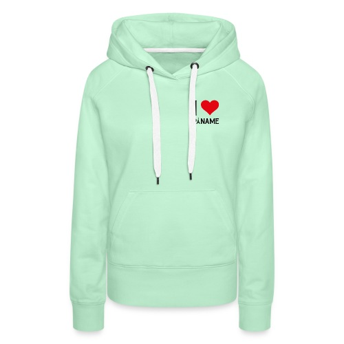 I love Paname - Sweat-shirt à capuche Premium pour femmes