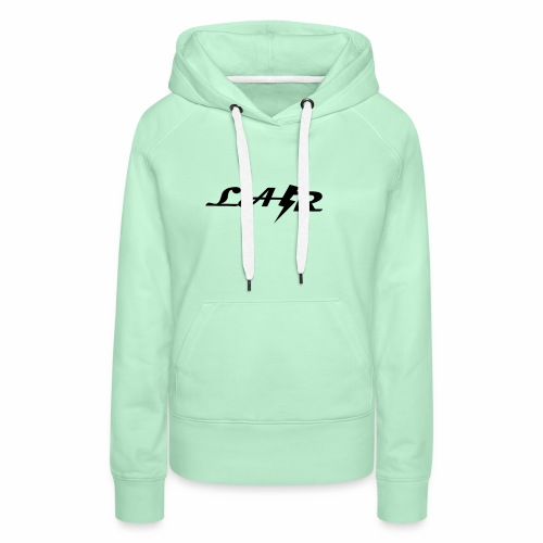 LaZr Lightning Bolt Text Logo - Women's Premium Hoodie