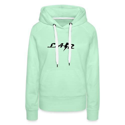 LaZr Lightning Bolt Text Logo - Women's Premium Hoodie