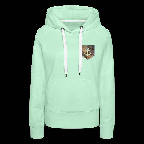 Brusttasche Galaxie Anker - Frauen Premium Hoodie