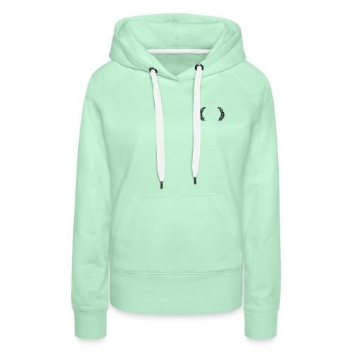Couronne de laurier - Sweat-shirt à capuche Premium pour femmes