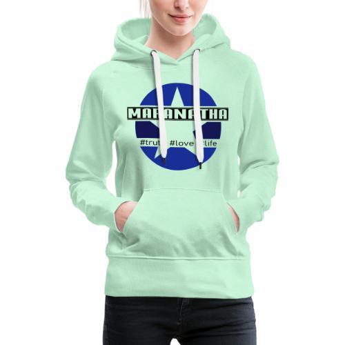 maranatha blau-braun - Frauen Premium Hoodie
