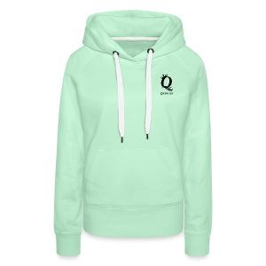 queens logo - Premium hettegenser for kvinner
