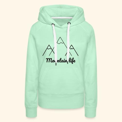 logo montagne 2 - Sweat-shirt à capuche Premium pour femmes