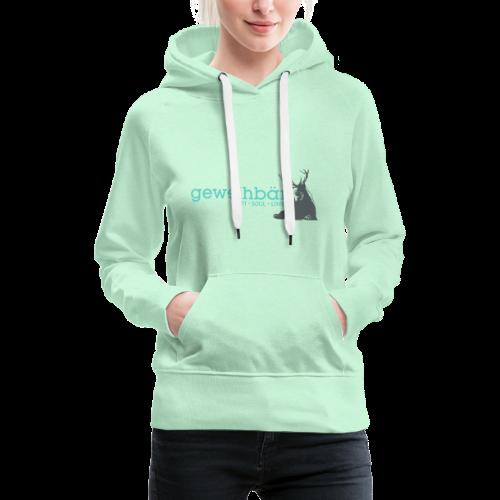 geweihbär colored - Frauen Premium Hoodie