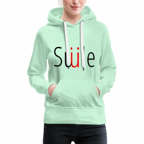Smile - Sudadera con capucha premium para mujer