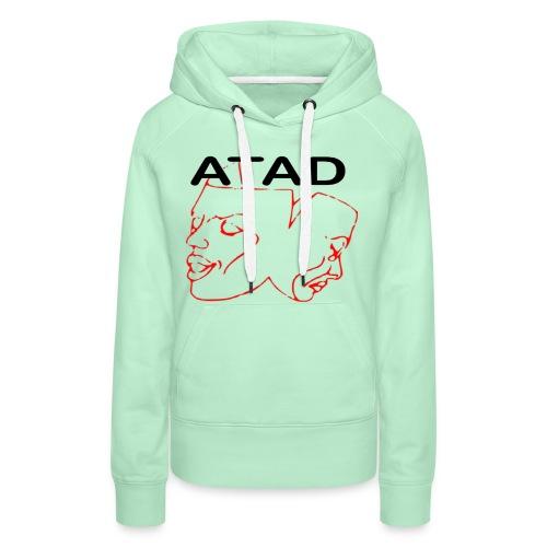 Rotes Logo mit ATAD Schriftzug - Frauen Premium Hoodie