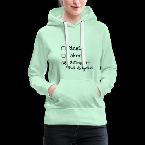 Waiting for Cole Sprouse - Sweat-shirt à capuche Premium pour femmes