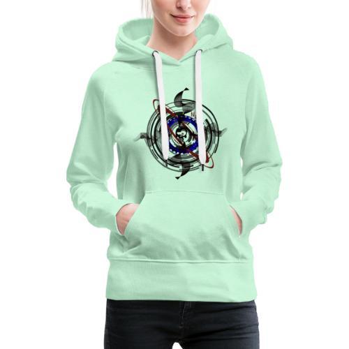Skull Trash - Sweat-shirt à capuche Premium pour femmes