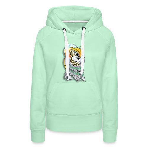 Cosmic owl - Sudadera con capucha premium para mujer