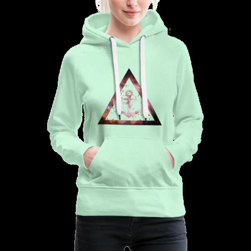 Galaxy Anchor Geometry Triangle - Frauen Premium Hoodie
