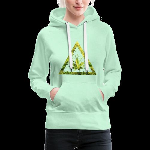 Marijuana Cannabisblatt Triangle with Splashes - Frauen Premium Hoodie