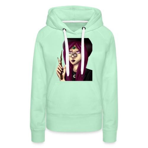 Sorcière violette - Sweat-shirt à capuche Premium pour femmes
